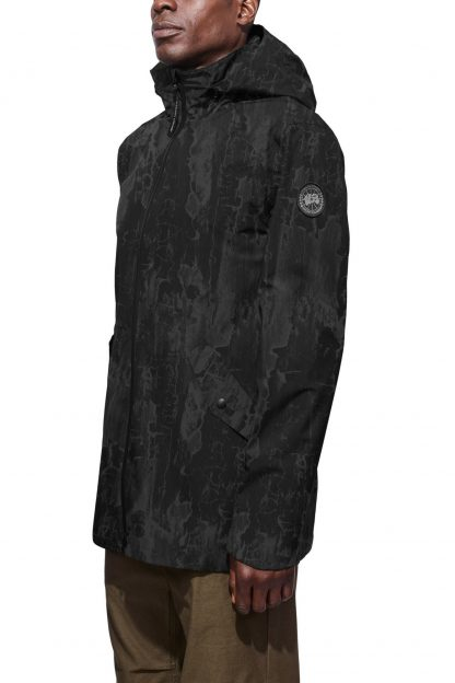 d33944c2e Perfect Birchbark Black Canada Goose Men\'s Reflective Raincoats Riverhead  Jacket Black Label Canada Goose Outlet Canada 5604MBPZ